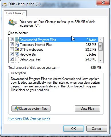 windows how to delete temporary files to enhance performance