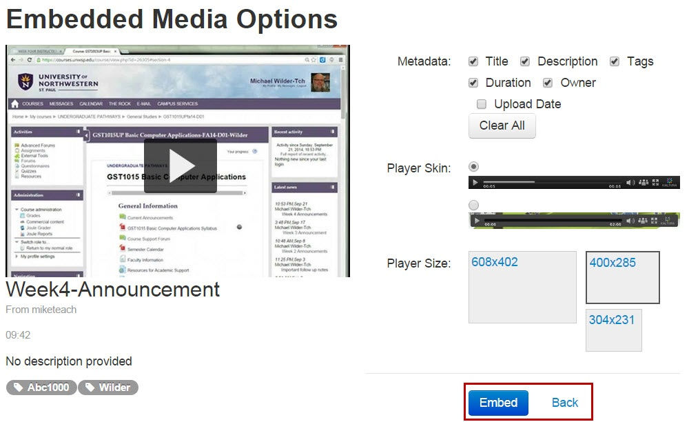Add Video Content In Moodle Using Kaltura